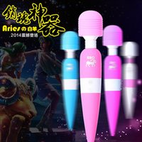 Wholesale 2015 New USB Rechargeable Powerful Big Speed Vibration Magic Wand AV Massager Clit Vibrators Sex Toys for Women
