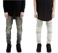 acid washed clothes - new hip hop fashion men urban clothing plus size mens acid wash blue black white skinny moto denim biker jeans