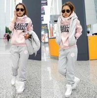 Cheap 2014 Women Tracksuits Sport Suits Sports Wear For Sweatshirt and Trousers Casual Sweat Pants Set Three Piece PQM001