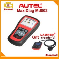 For BMW launch scan tool - Autel Maxidiag Elite MD802 MD Scanner ALL systems DS EPB OLS Launch creader code scanner scan tool