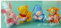 baby feeding games - 4pcs plush toy doll mother and Wife Piglet Pig Winnie Tigger donkey Il mother holding baby feeding bottle Christmas gift
