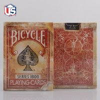 bicycle ellusionist cards - Deck Bicycle Vintage Series Red Or Blue Decks Playing Cards by Ellusionist NEW Sealed Magic Tricks Card