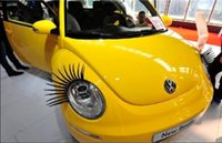 automobile tips - 10 Double Car Headligh False Eyelash Stickers Decorative External Parts Eyelash Automobiles Motorcycles Headlight Decals Eyelash