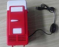 Wholesale Portable USB PC Fridge Car Refrigerator Heater Beer Juice Warmer Cooler with LED Indicator