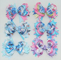 Wholesale quot Baby Ribbon Hair Bow Frozen Hair Bow For Baby Boutique Frozen Hair Bow Children Hair Accessories
