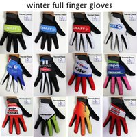 fleece gloves - winter thermal fleece cycling long gloves sport ciclismo invierno winter cycling gloves bicycle mtb long finger bike gloves