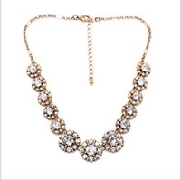 Wholesale Valentine s Day gift European luxury major suit Diamond Ladies alloy necklace low price
