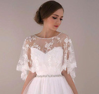 Lace custom made jewelry - 2016 Jewelry Cape With Beaded Crystal Bridal Accessories Wedding Dresses Wraps Shawls Bolero Shrug CPA373