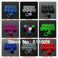 Wholesale Hot Fashion Charm mixed gauges clear colors UV acrylic ear expander screw on Flesh Tunnel