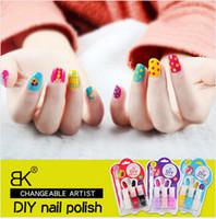 Wholesale BK brand new nail art decorations set ml DIY nail polish and nail dotting pen creative polka dot nail polish set