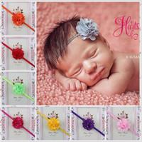 Wholesale Baby Girls Headbands Mix Lace Mesh flower babies Headbands Infant Toddler Hair Band Accessories Head Piece Hair Accessories Headwear KHA71