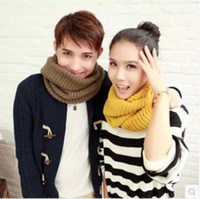Wholesale Women s Men Winter Outdoor Knitting Scarfsingle Cable Knit Cowl Neck Long Scarf Shawl Scarves Bid for Men Girl Mix Color M1868