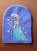 Unisex Winter Crochet Hats Wholesale-winter hats Frozen elsa anna sun hat Children's beach hat UV cap accessories caps bone snapback beanie bucket hat Knitting warm