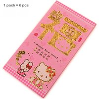 Wholesale pack pack Novelty red paper containing money as a gift Hello kitty lovely red envelope for kids