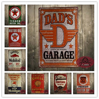 Wholesale Dad s Garage Tin Sign metal poster fix it repair shop wall decor inch