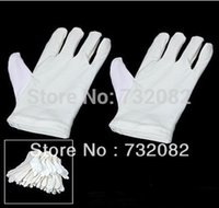 Wholesale 20Pairs safety Gloves White Cotton Gloves safety gloves E2758