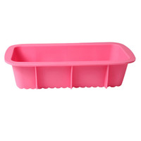 Wholesale 10inch Silicone Bread Maker BakeBear Toast Bread Loaf Pan Strengthening Border with Bottom Waves Cake Baking Mold