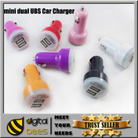 auto cars - Colorful Mini Car Charger ports Cigarette Port A Micro auto power Adapter Nipple Dual USB for Phone s plus samsung s7
