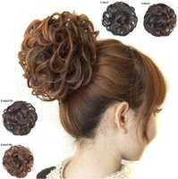 Wholesale 4 Colors G Curly Hair Bun Chignons Women s Styling Tools High Quality Bun Hairpiece Lady Hairstyles Short Hair Hair Pieces Bun