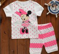 Wholesale Fashion Summer baby girls boys kids clothes set short sleeve cotton children t shirt suit kids clothing sets