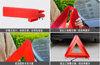 automotive brackets - Automotive supplies emergency tool folding noctilucent bracket warning triangle pc