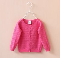 cotton candy machine - 2015 New Spring Autumn Kids Girls Knit Candy Color Cardigan Sweater Long Sleeve Wavy Edge Knitted European American Style