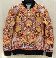 alice coat - Fall Alice new Yellow pattern D printed sweatshirt men s cardigans jacket Space cotton casual dress coat J34