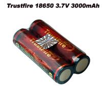 Cheap 4PCs lot Trustfire 18650 Battery 3.7V 3000 mAh Lithium li-ion Camera Flashlight Torch Battery 18650 rechargeable Battery PCB
