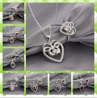 Cheap Hot Sale Mix 8 style 925 Sterling Silver Plating crystal Necklace & Ring Wedding Jewelry Set