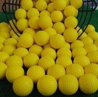 golf balls - New golf Balls Soft Indoor Practice PU Yellow Golf Balls Training Aid golf pelotas Golf Balls