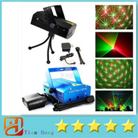 Wholesale Laser Stage Lighting Free DHL Blue Mini mW Mini Green Red Laser DJ Party Stage Light Black Disco Dance Floor Lights