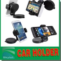 Cheap Windshield Car Holder 360 Degree Rotation Universal Mobile Phone Car Holder For Iphone 6 Galaxy S6 Note 4 With Retail Package DHL Free Ship