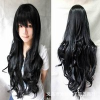 Wholesale WIG Hot cm long curly black redpink brown colors Anime Cosplay wig High quality womens party kanekalon fibre hair wigs