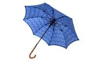 Wholesale Straight rattan umbrellas T pongee Damascus design auto open T alloy shaft for virgin parasols curve rattan handle Spain unique style