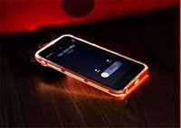 i-glow cases - Electroplating Borders Transparent Luminous Light Up Glow In The Dark TPU PC Hard Case Ultra Thin Cover Silicone Skin for i phone s