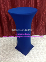 Wholesale 10pcs Extra Larger Royal Blue Lycra dry bar cover Cocktail table cover cloth for wedding event party decoration