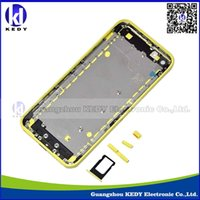 Wholesale Original new iphone c back cover complete iphone c housing repair parts bule yellow pink white green Free DHL