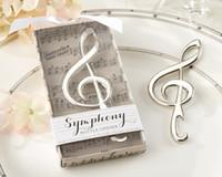 Wholesale 1pcs Creative Bottle Opener Wedding Favor Unique Wedding Souvenir Music Notes Bottle Opener Wedding Gift