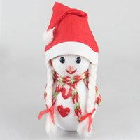 Wholesale 1x New Design Unisex Adult Cute Lovely Attractive Christmas Cap Santa Claus Hat with Pigtail