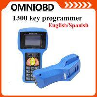 Wholesale Saab Locksmith Tools - 2016 T300 key programmer Spanish Enlish V15.2 Diagnostic Code Reader Locksmith Tool T300 key programmer T-CODE Auto key Free shipping
