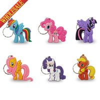best cute keychains - Min Order My Little Pony D Cartoon Keychains Key Ring For Bags wallet Clothing Cute Key Accessories Kids Best Favor