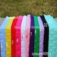 Wholesale 70 cm lace wraps with stretch newborn photography props baby shower swaddlings lady dress and head accessories