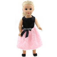 Wholesale Hot New Pink Doll Dress Handmade Doll Clothes Skirt