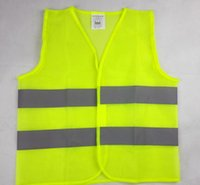 Wholesale High Visibility Neon Yellow Zipper Front Safety Vest with Reflective Strips Working Safety Construction Vest Warning Reflective traffic work