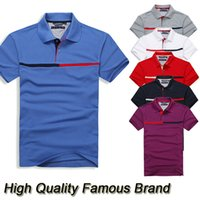 Short Sleeve brand golf shirt - 2015 World Famous Brand Polo Shirts Men s Short Sleeve T Shirt Cotton Sports Jerseys Golf Tennis Plus Size S XXXL