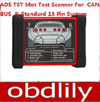 ad pin - 2015 Newest ADS TST Mot Testing Scanner For CAN BUS And Standard Pin System DHL