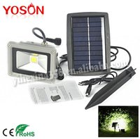 Wholesale 10W Solar Power COB LED Flood Night Light Garden Spotlight Waterproof Outdoor Lamp Wholsale