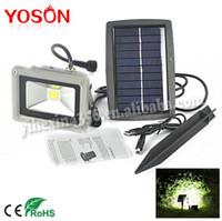 Wholesale 10W Solar Power COB LED Flood Night Light Garden Spotlight Waterproof Outdoor Lamp Wholsale