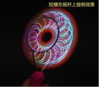 Wholesale Colorful Magic gyro Flash yoyo Wheels Auto Flip ball Kids Led Toys track yo yo Gifts free fedex t35