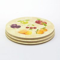 bamboo placemats - Chinese direct selling bamboo placemats coasters insulation against hot pot mat Colorful printing cook tool surface protectors